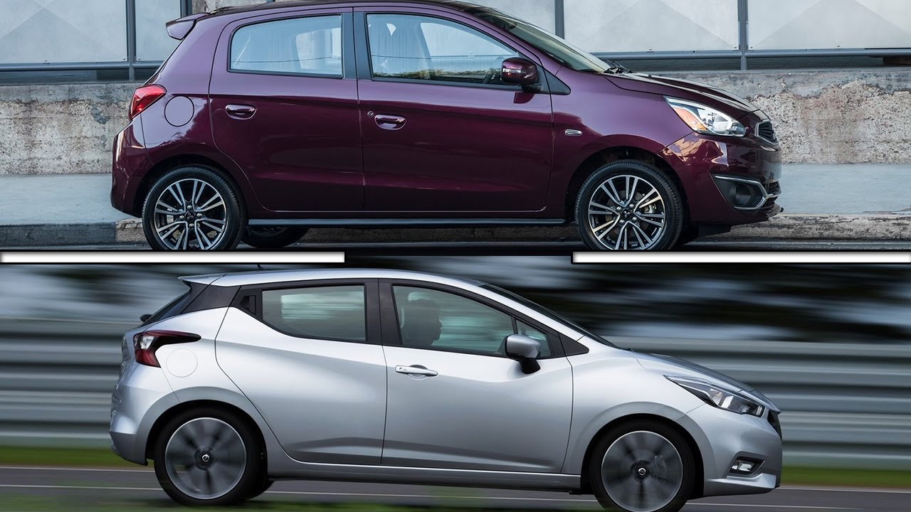 Mitsubishi Mirage 2016 >> 2017 Mitsubishi Mirage vs 2017 Nissan Micra - YouTube