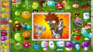 Every Plant Power-Up! vs Chicken Wrangler Zombie in NEW Plants vs Zombies 2