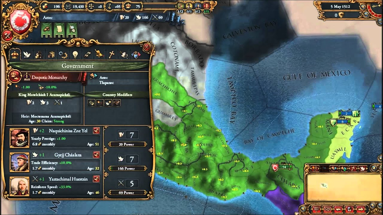 eu4 how to play aztec