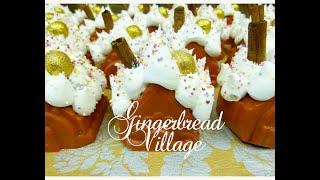 Making Gingerbread Village Soaps