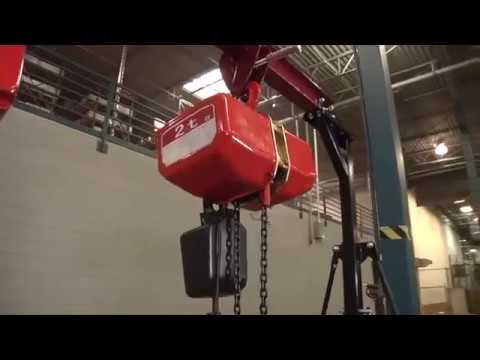 Roughneck Round Chain Electric Hoist - 1-Ton Capacity