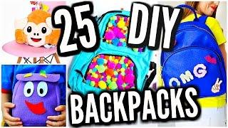 25 DIY Backpacks For Back To School 2016-2017! DIY School Supplies!