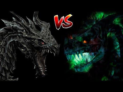 КТО СИЛЬНЕЕ: Алдуин VS Дракон-Нежить | Skyrim | Готика 2 | DAMIANoNE