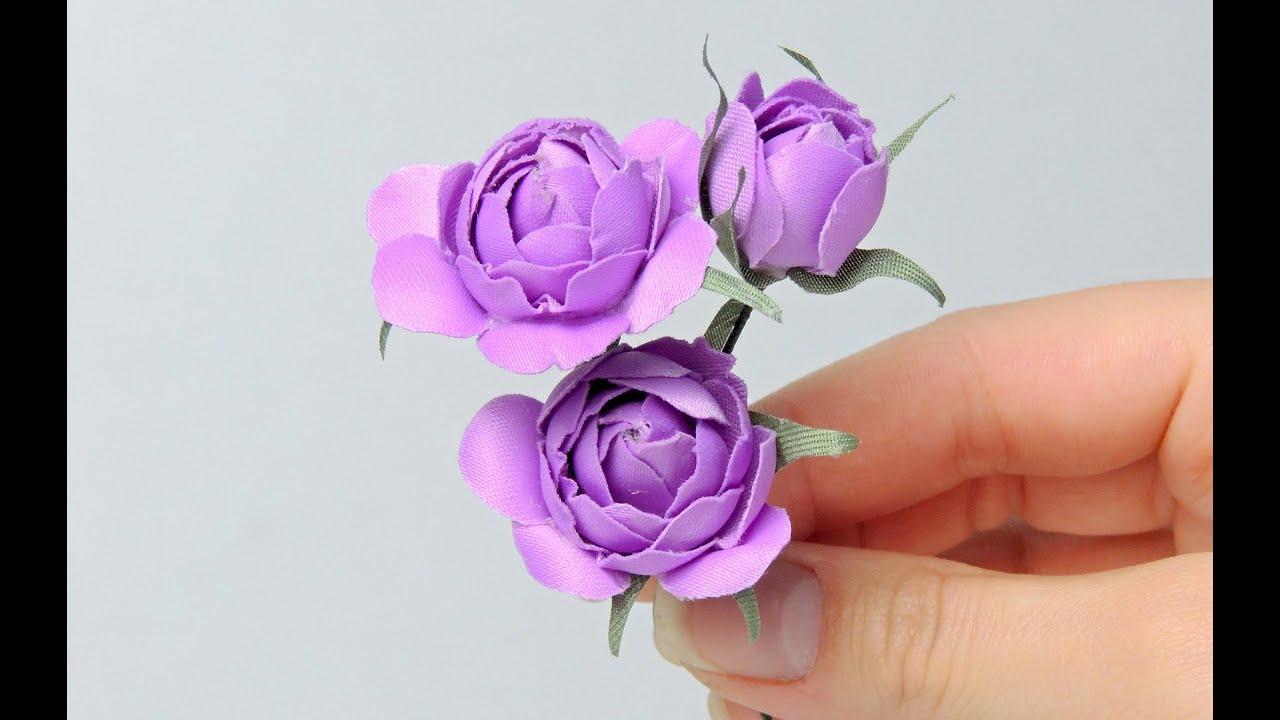 Мк цветы из ткани.