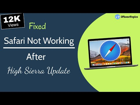 Safari Not Working After High Sierra Update? Here's the fix