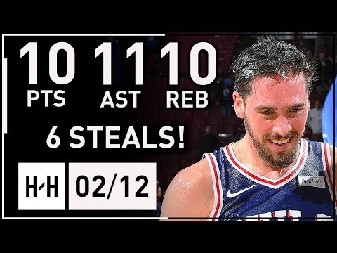 T.J. McConnell Triple-Double Highlights 76ers vs Knicks 2018.02.12 - 10 Pts, 11 Ast, 10 Reb, 6 Stls!