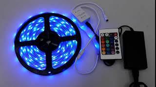 RGB플렉서블LED바+IR리모콘RGB+어댑터 세트  (…