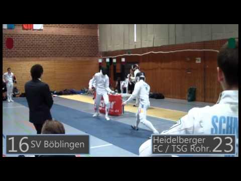 Deutsche Juniorenmeisterschaft Mannschaft Herrendegen - Esslingen (04.12.2011)