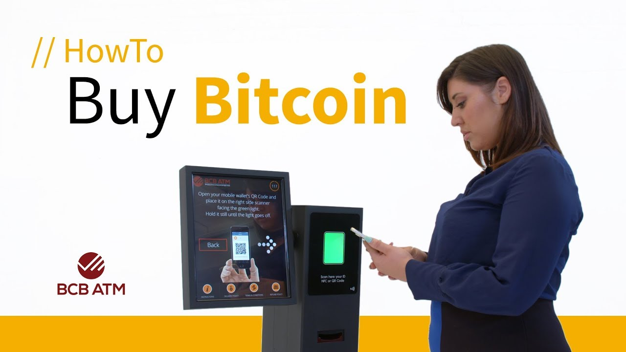 How to buy Bitcoin using a Bitcoin ATM - BCB ATM - YouTube