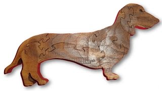 Scroll Saw Projects - Dachshund Dog Puzzle
