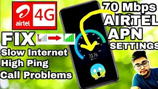 Airtel Apn Settings Airtel Internet Settings How To Increase Net Speed In Airtel Network Problem New