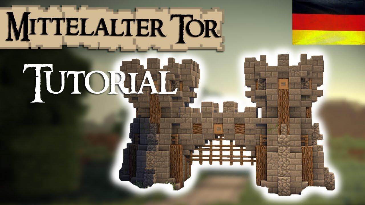 Minecraft Tutorial Burg Stadttor Mittelalterlich