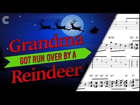 Bass  - Grandma Got Run Over By a Reindeer - Christmas Carol - Sheet Music, Chords, & Vocals