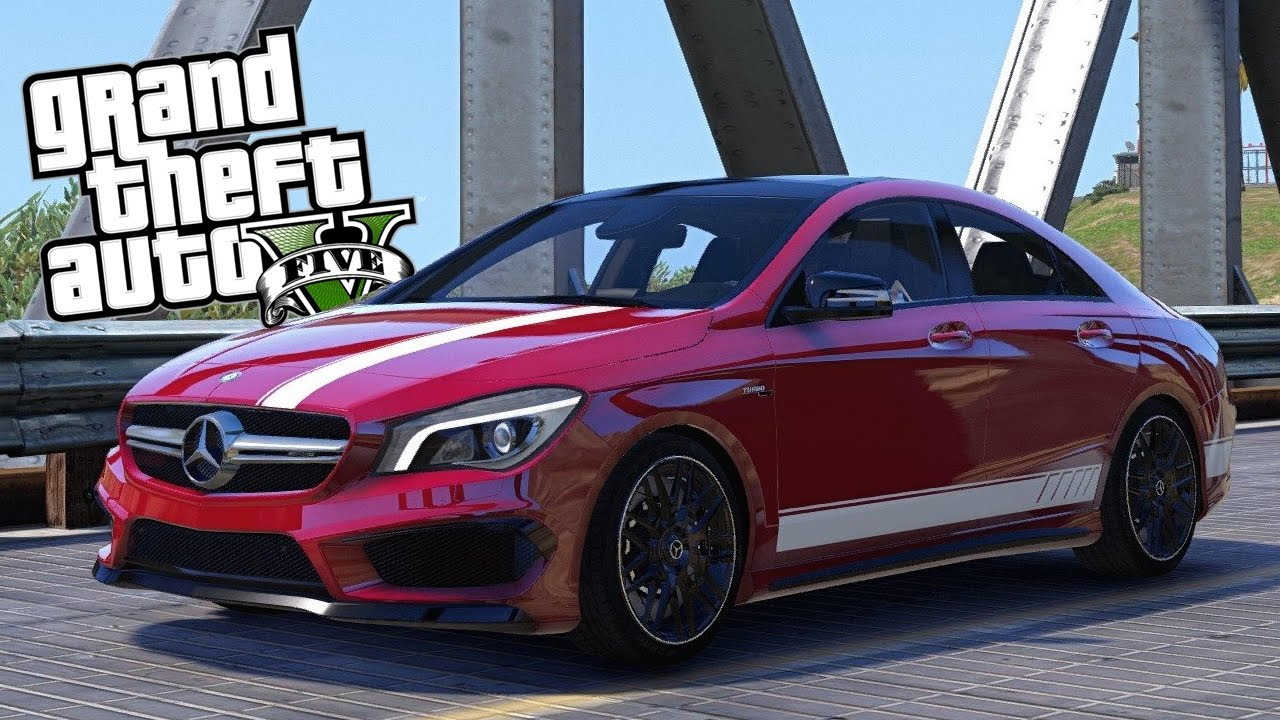 gta 5 mods mercedes benz cla 45 amg tuning und fahren. Black Bedroom Furniture Sets. Home Design Ideas