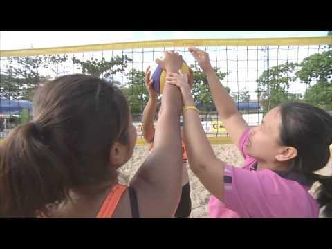 เทคนิคการเล่นวอลเลย์บอลชายหาด จากนักกีฬาทีมโรงเรียนวัดสิงห์