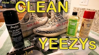 How To Clean YEEZY 350 Boost Tutorial | V2 Zebra Angelus Easy Cleaner
