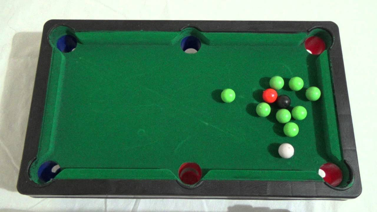 12 Inch Mini Tabletop Pool Table Game Snooker Billiards TOY Easy To Assemble
