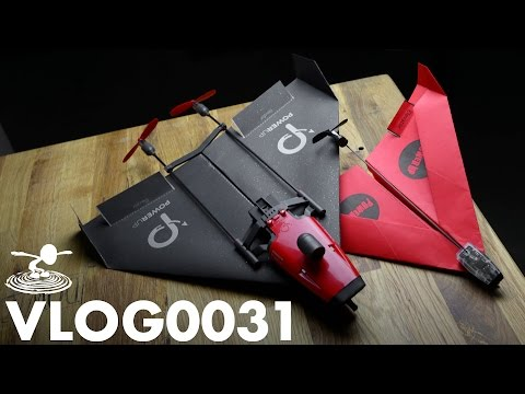 PAPER AIRPLANE DRONE - POWERUP FPV -    VLOG0031