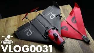 PAPER AIRPLANE DRONE - POWERUP FPV -  | VLOG0031