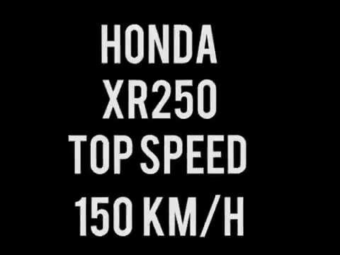 HONDA XR250 TOP SPEED