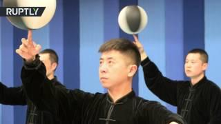 Баскетбол в стиле тай чи  китайские мастера объединили лечебную гимнастику и спортивную игру