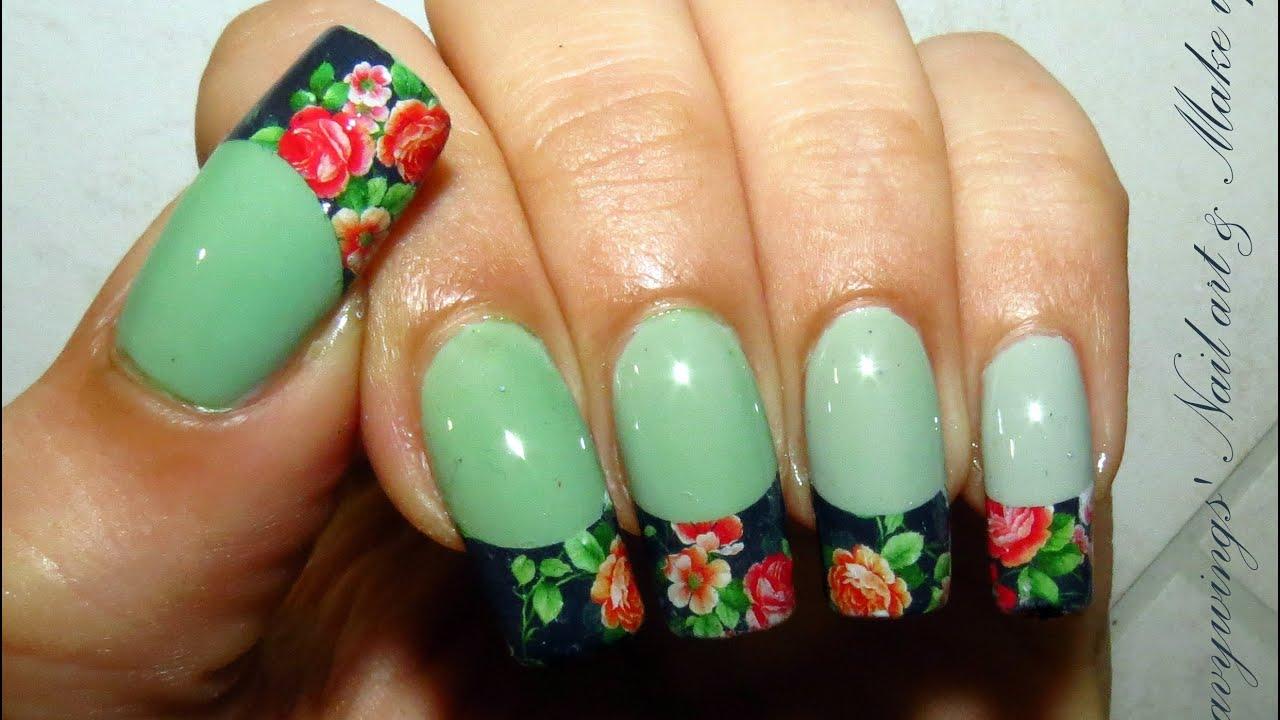 Dgradflowers How To Apply Water Decals Nail Art Tutorial