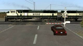 International Railroad Crossing Action in Railworks 2