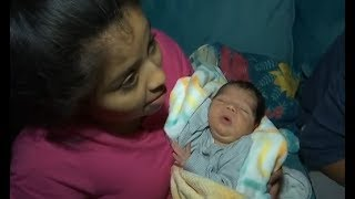 PREGNANT WOMAN FROM CARAVAN CROSSES ILLEGALLY. GIVES BIRTH. NOW SHE'S SET FOR LIFE AND HERE FOREVER