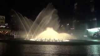 Dubai water fountain October 3rd 2014  (Ave Maria)