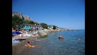 ФОРОС тут купаются местные жители на море.И туристы.дикие пляжи,говорят бывают нудисты.Крым 2017