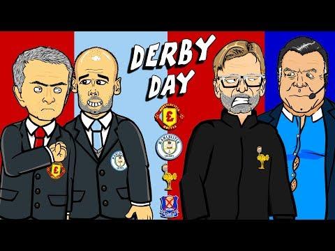 🔥DERBY DAY🔥 Man Utd vs Man City! Liverpool vs Everton! PREVIEW 2017!