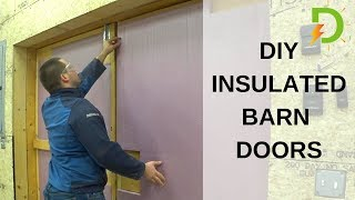 Keep the Cold Out and Heat in!  DIY Shop Doors