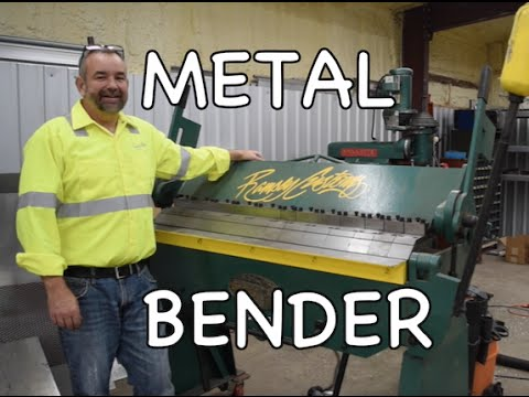 How to use a Metal Bender - Steel Sheetmetal Brake (Finger Break)