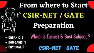 CSIR-NET Preparation || CSIR-NET Chemical Science || Best Subject for CSIR-NET Chemistry || GATE