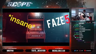 SCOPE *REACTS* to Last FAZE5 Recruit, AND him getting into FaZe as the sixth! (FULL REACTION)