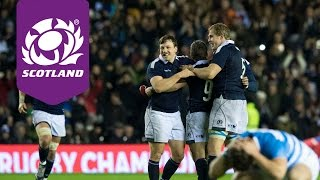 Highlights of Scotland's 1916 victory over Argentina