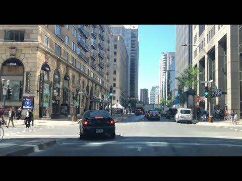 Driving Tour @ Downtown Montréal Qc, Canada. June 12, 2019