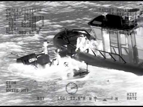 Coast Guard Rescues Two Adults, Two Children from Flooded Boat