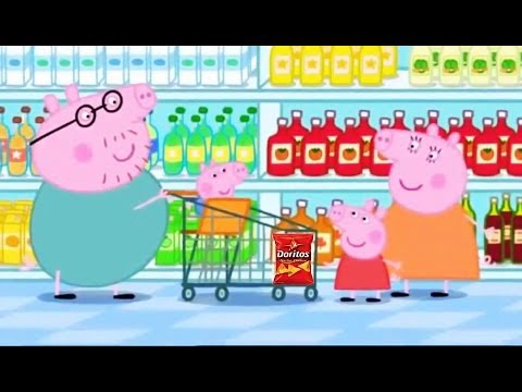peppa pig grocery shopping daddy pig with george go. Black Bedroom Furniture Sets. Home Design Ideas