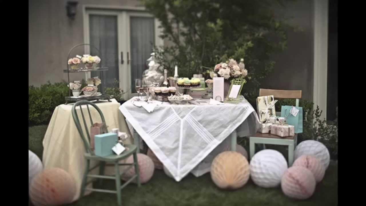 tea party bridal shower decorating ideas youtube