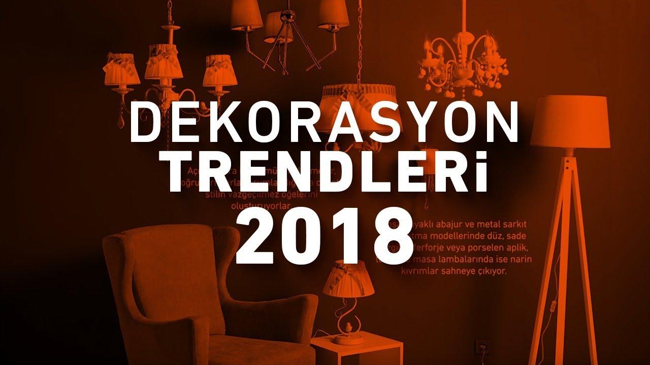 2018 ev dekorasyon trendlerinin IN ve OUTları