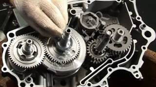 How to , How to maintain motorcycle , Installation of crankcase assembly