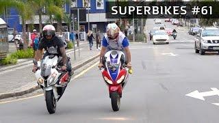 😈 SUPERBIKES #61 - RL CBR 1000RR & S1000RR! BURNOUT! HORNET NO GRAU!!!
