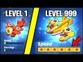 THE FASTEST PLANE IN THE GAME EVER!! (LEVEL 1 VS LEVEL 999) // Merge Plane WORDL RECORD NEW Game