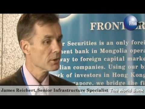 James Reichert From The World Bank Speaks with Yuji Iwasaki in Mongolia