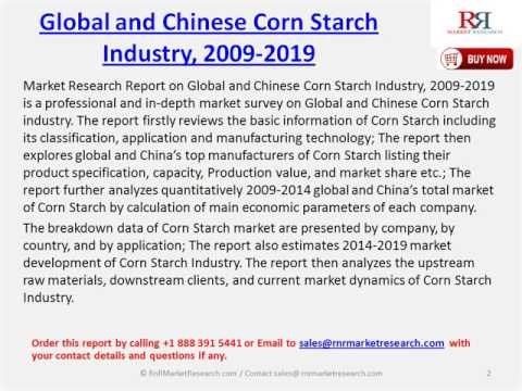 Global & China Corn Starch Industry Forecast Report, 2009-2019