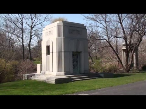 Art Deco Burial Vault, John Holmes, Graceland Cemetery Chicago