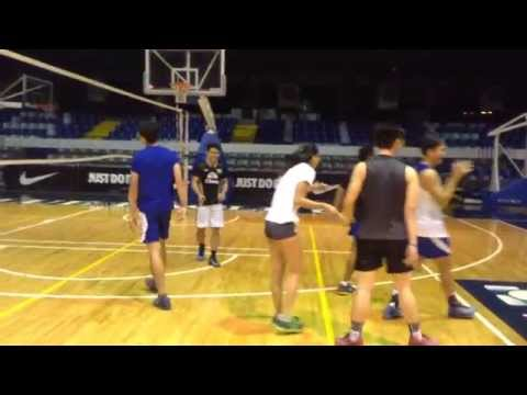 Alyssa Valdez & Marck Espejo in volleyball scrimmage Part 2