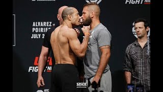 UFC on FOX 30 Weigh-Ins: Jose Aldo vs. Jeremy Stephens Staredown - MMA Fighting