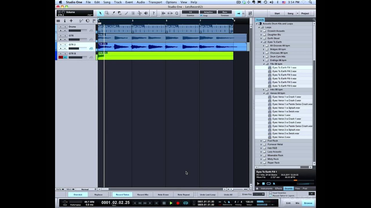 PreSonus Forums | Auto Punch and Preroll | Studio One Forum
